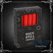 Bougie Magic Spell Candles Rouge - pack de 12 - boutique esoterique en ligne