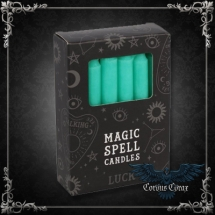 Bougie Magic Spell Candle - Lucky - Vert - pack de 12 - boutique esoterique en ligne