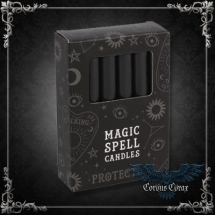 Bougie Magic Spell Candle - Protection - Noire - pack de 12 - boutique esoterique en ligne