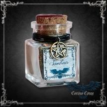 Fiole Encens Samhain avec pentacle en bronze - Produit Maison CORVUS CORAX - boutique esoterique en ligne
