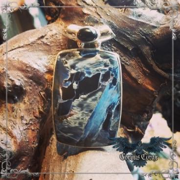 Création Pietersite Bleue, pendentif - Boutique ésotérique en ligne
