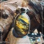 Création Pietersite, pendentif - Boutique ésotérique Corvus Corax