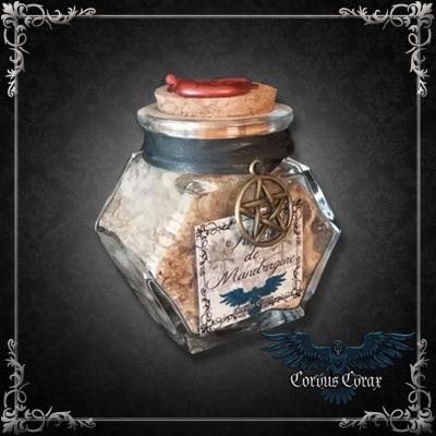 Fiole Racine de Mandragore - Produit Maison CORVUS CORAX - Boutique ésotérique Corvus Corax