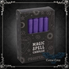 Bougie Magic Spell Candle - Prospérité - Violet - pack de 12