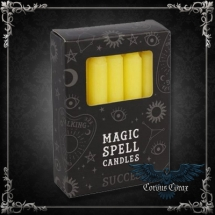 Bougie Magic Spell Candle - Succès - Jaune - pack de 12 - boutique esoterique en ligne