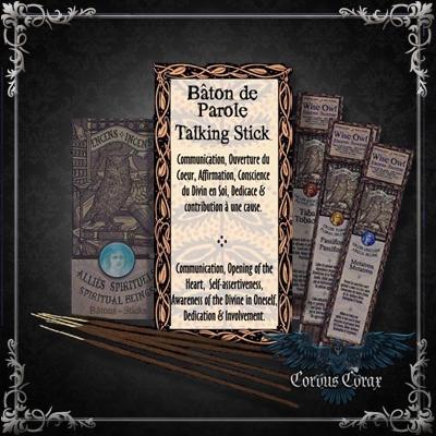 Encens artisanal Amérindien BATON DE PAROLE - Wise Owl  - Boutique ésotérique Corvus Corax