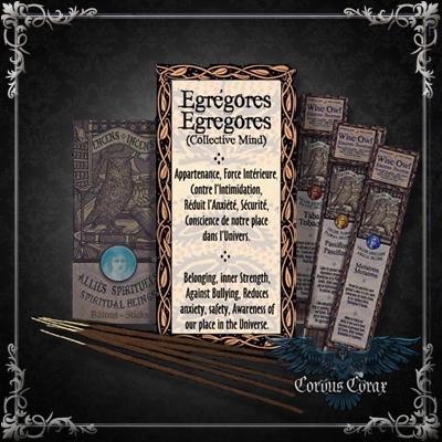 Encens artisanal Alliés EGREGORES - Wise Owl  - Boutique ésotérique Corvus Corax