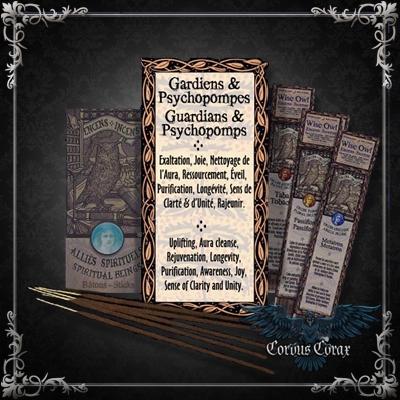 Encens artisanal Alliés GARDIENS ET PSYCHOPOMPES - Wise Owl  - Boutique ésotérique Corvus Corax