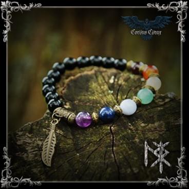 Bracelet de guérison 7 Chakras - Bronze - Produit Maison Sighild - Boutique ésotérique en ligne